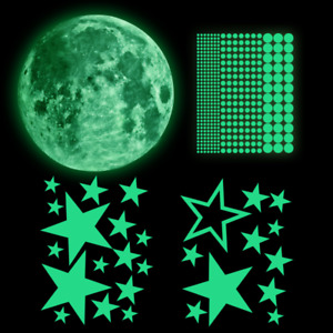 435Pcs Glow In The Dark Luminous Stars Moon Planet Space Wall Stickers Kid Decal