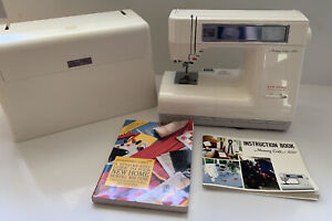New Home Janome MEMORY CRAFT 8000 Sewing Machine Case Pedal Power Manual Extras $249.99