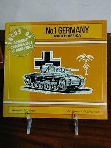 No 1 GERMANY NO AFRICA FOCUS ON ARMOUR CAMOUFLAGE By Kenneth M. Jones VG