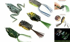 Topwater Frog Lures Soft Fishing Lure Kit with Tackle 5 different frog lures
