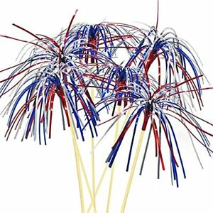 4th of July America Independence Day Firework Food Cocktail Picks Table Decor US