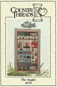 THE ANGLER Quilt Sewing Wall Hanging Pattern by Country Threads #171 $7.25
