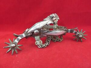 PAIR OF SILVER MOUNTED BUERMANN SPURS 1416
