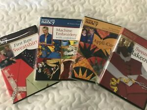 SEWING WITH NANCY DVDs FIRST RATE SWEATSHIRTSMACHINE EMBROIDERYAPPLI CURVES $12.99