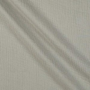 Double Gauze Silver Fabric by the Yard