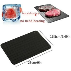Fast Defrosting Tray Rapid Thawing Board Safe Defrost Plate Thaw Frozen Food US