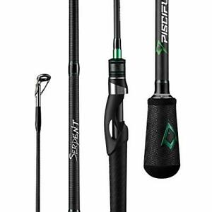 Piscifun Serpent Spinning Rod Two Pieces Fuji Line Guides IM7 Carbon 6#x27;10quot; M 2PC