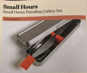 Portable Travel Camping Cutlery Set Knife Fork Spoon Stainless Silverware NEW
