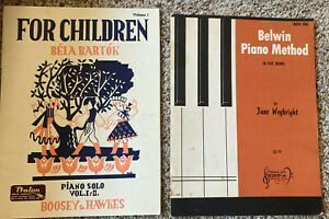 Two Piano Books for Beginners Children $8.00