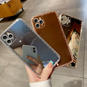 Glossy Plating Mirror Soft Case TPU Cover For iPhone 12 11 Pro Max XS XR 8 Plus