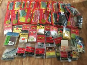 Lot of 54 Older Misc Fishing Supplies Hooks Lures Sinkers