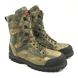 Red Wing Shoes Irish Setter Mens GTX Gore Tex Camo Hunting Boots Size 14