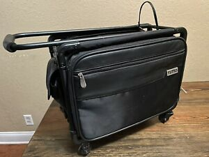 Black TUTTO Scrapbooking Briefcase Small Office On Wheels MSRP $169 $89.00
