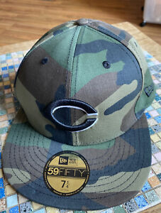 Cincinnati Reds New Era 59Fifty Fitted MLB Hat Cap Size 7 1 4 Camouflage