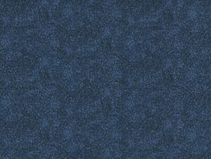 100% Quilting Sewing Cotton Fabric NAVY BLUE Itsy Bitsy Floral Blender BTY $11.25