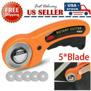 Rotary Cutter With 45mm Blade Sewing Quilters Fabric Leather Cutting Tool Set US $9.65