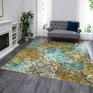 Transitional Contemporary Abstract Aqua Area Rug **FREE SHIPPING** $249.00