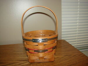 INAUGURAL Collection Basket FIRST IN SERIES 1989 Longaberger With Protector $229.99