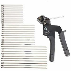 YaeCCC Cable Tie Gun with 30 Pcs Stainless Steel Locking Cable Zip Ties Kit Z... $50.42