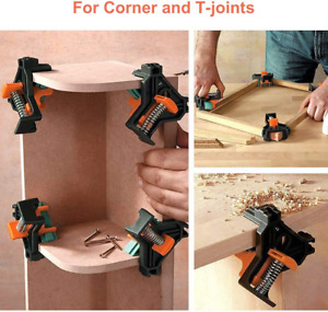 4 PCS 90 Degree Right Angle Clip Clamps Corner Holders Woodworking Hand Tools $9.85