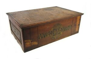 Antique Thread Cabinet 2 Drawer Willimantic Spool Cotton Company Best Six Cord $365.00