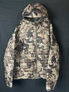 New NOMAD Lightweight Duo Down Puffer Hooded Camo Hunting Jacket Mens XL NWOT