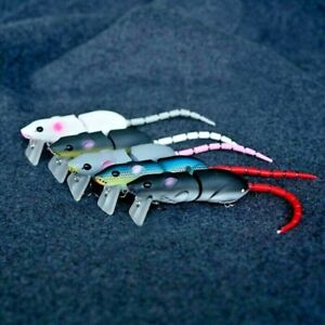 Custom Multi Pack Top Water Rat Mouse Fishing Lure Bass 3D Mice 15g