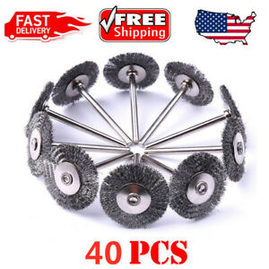 40pcs Wire Brush Fit Rotary Tool Stainless Steel Die Grinder Removal Wheel $17.99