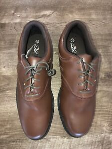 Arnold Palmer Mens Trophy Brown Synthetic Leather Golf Shoes Size 12