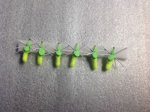 6 Fishing Floating Mop Flies Spiders #10 Hooks Trout Panfish Bluegill Bass