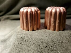 Small Antique Copper canele molds dated 1882 $110.00