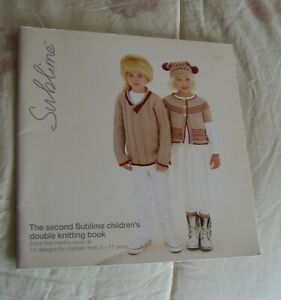 SUBLIME THE SECOND SUBLIME CHILDREN#x27;S DOUBLE KNITTING BOOK 643 12 PATTERNS $2.50