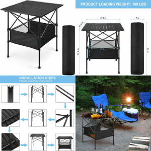 BTY Camping Table Portable Tables That Fold Up Lightweight Black $54.61
