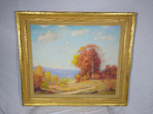 V. J. Cariani Brown County Indiana Large Oil Painting Signed Vintage $8888.00