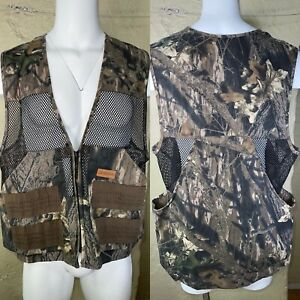 Vintage Ruddy Duck Camo Game Pouch amp; Ammo Hunting Vest Sz Large USA Made.