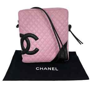 CHANEL Cambon Crossbody Messenger Bag Pink Quilted Calfskin Leather $1450.00