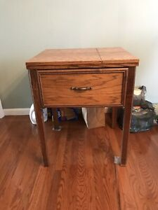 Vintage Sewing Cabinet. Originally Housed A Bernina But Is Cut To Fit Others $45.00