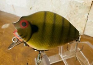 Heddon Punkinseed Vintage Wood Lure Rock Bass Color in very good condition