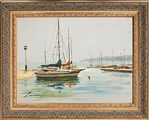 Framed Oil Painting Wall Art Stunning Ocean Seascape Signed by Jean Norton $195.00