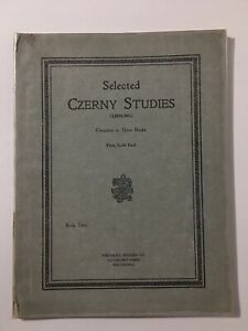 Selected Czerny Studies Book Two Piano Sheet Music Copyright 1906 Theo Presser $9.99