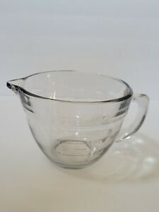 Pampered Chef 4 Cup 1 Quart Clear Glass Measuring Mixing Batter Bowl No Lid