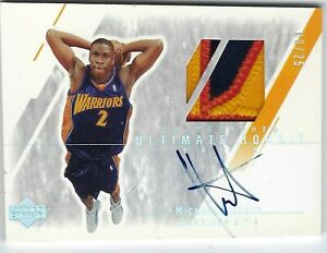 2003 04 UPPER DECK ULTIMATE BASKETBALL ROOKIE RC AUTO PATCH MICKAEL PIETRUS 25 C $99.99