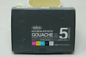 New Holbein Artists Gouache 5 Colors Set Primary 15ml tubes $39.99