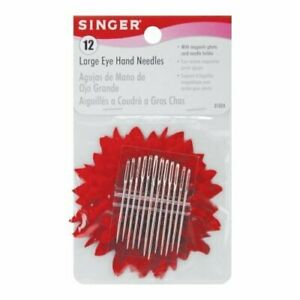 Singer Large Eye Hand Needles with Storage Magnet#x27; Assorted Sizes $7.38