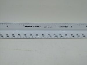 Staedtler Mars 987 19 31 Architect Engineering Scale Triangle Drafting Ruler 12quot; $18.71
