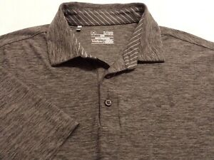 Under Armour Mens XL Short Sleeve Solid Gray Athletic Polo Golf Shirt $17.50