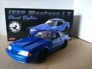 ACME GMP1990 Mustang LX Supercharged 5.0 Street Fighter Metallic Blue 1:18 18954