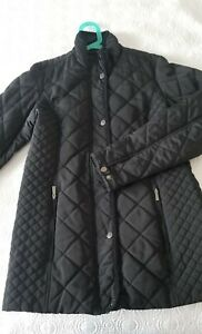 Lands End Women#x27;s Insulated Quilted Coat Size: S Black