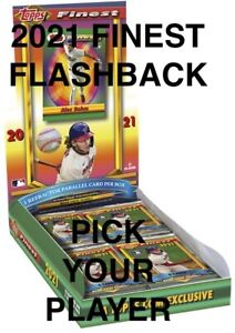 2021 TOPPS Finest Flashbacks BASE ROOKIE #1 200 YOU Pick COMPLETE YOUR SET $2.50