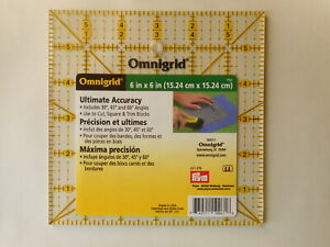 Omnigrid 6 in x 6 in Square Ruler for Quilting R6A $8.99